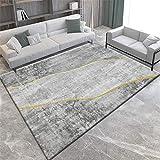 Alfombras Alfombra niños Alfombra Lavable de diseño Minimalista Gris Amarillo fácil de Limpiar Cosas para el baño alfombras Infantiles 180X250CM