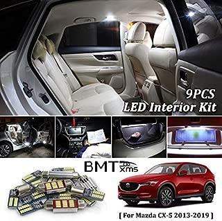 BMTxms 9X White Canbus Led Car Interior Lights Package Kit for 2013 2014 2015 2016 2017 2018 2019 Mazda CX-5 CX5 Led Interior Lights (for Mazda CX-5, white)