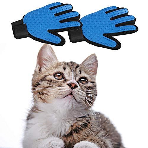 FPXNBONE Pet Grooming Glove-Haarentfernungshandschuhe,Reinigungshandschuhe für Haustierkatzen,Kamm zum Erröten des Hundefells,Handschuhe für die Haustierpflege,sanfter Deshedding-Bürstenhandschuh