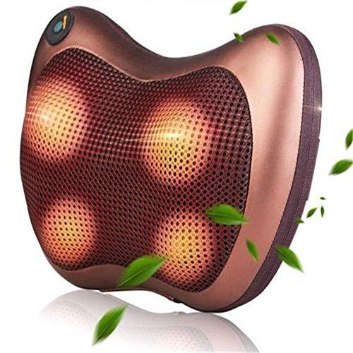 QXXNB Zervikales Comfy RelaxBeheiztes Massagekissen Tiefenmassagegerät Nacken Schulter Rückenschmerzen entspannen
