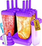 Popsicle Molds Set - BPA Free - 6 Ice Pop Makers + 1 Extra Mold + Silicone Funnel + Cleaning Brush +...