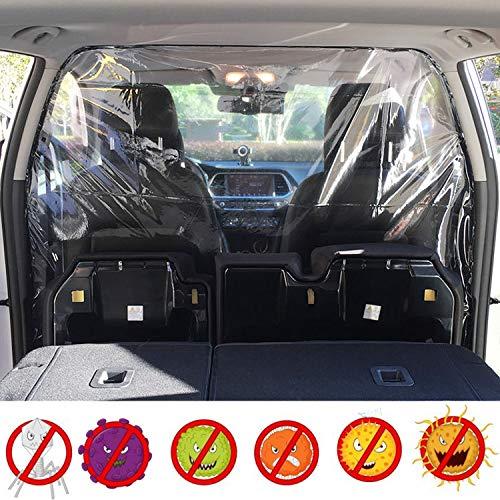 Funmo Taxi transparent Isolationsfolie, Spuckschutz Trennwand Für Auto, Autoschutz für Fahrer Transparente Tropfschutzfolie