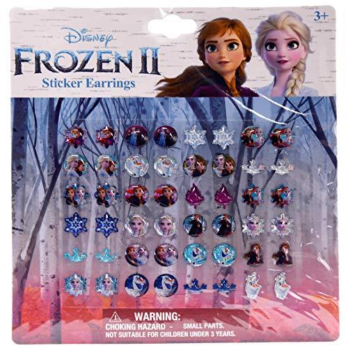 Disney Frozen Sticker Earrings - Set of 48 (24 Pairs) Features Olaf, Anna & Elsa