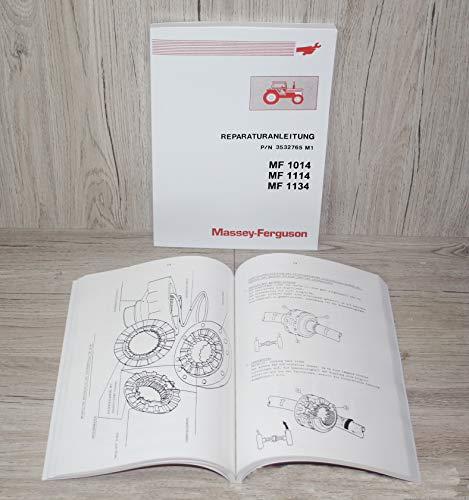 Massey Ferguson Werkstatthandbuch Reparaturanleitung Traktor MF 1014 1114 1134