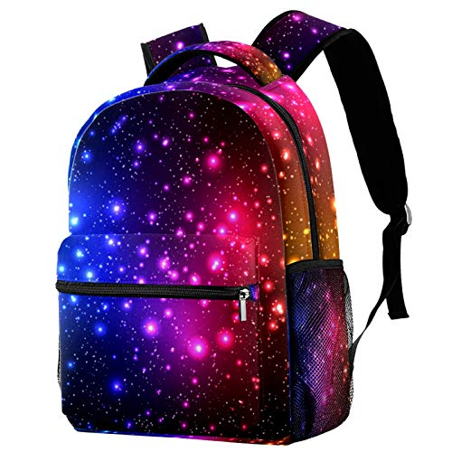 Colorful Shine Starry Sky Galaxy Backpack for Teens School Book Bags Travel Casual Daypack