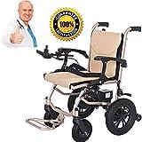 BXZ Silla de ruedas Silla de ruedas liviana, silla de ruedas eléctrica abierta/plegable en 1 segundo La unidad de silla eléctrica más compacta más ligera con energía eléctrica o silla de ruedas man