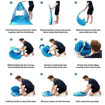 Pop Up Tente De Plage Abri Soleil Plage Ombre Tente Portable pour Activités De Plein Air Plage Voyager Violet