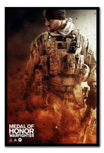 Medal Of Honour Warfighter Poster Walking Kork Pinnwand, schwarzer Rahmen, 96,5 x 66 cm (ca. 96,5 x 66 cm)