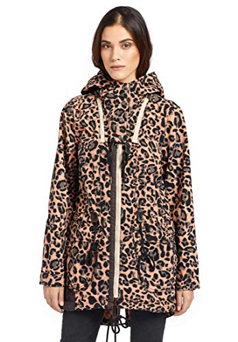 khujo Damen Mantel ISEULT Leichter Parka aus Baumwolle mit Abnehmbarer Kapuze