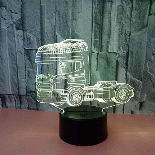 Nieuwe creatieve Truck 3D nachtlampje acryl USB 3D Lamp Luminaria De Mesa Powerbank Led USB licht armaturen Kids Lamp