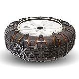 WSJF Auto di Neve Catene Anti Emergenza Slittamento Invernale Grip Car Tyre Neve Catena for Pneumatici Portatile Facile da Montare Emergenza Trazione (Colore : A2-Black, Size : 155 R13)