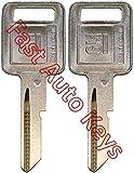 2(Pair) NEW GM Logo OEM IGNITION 'A' Key Blank Uncut 320588 B48P B48 01154610 50-A