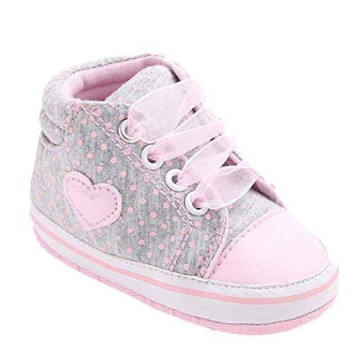 Zapatos de bebé, Bluestercool Forma de corazón de Zapato de Lona niña...