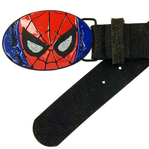 Spiderman Ceinture à boucle Marvel Spiderman 110 cm – Taille unique