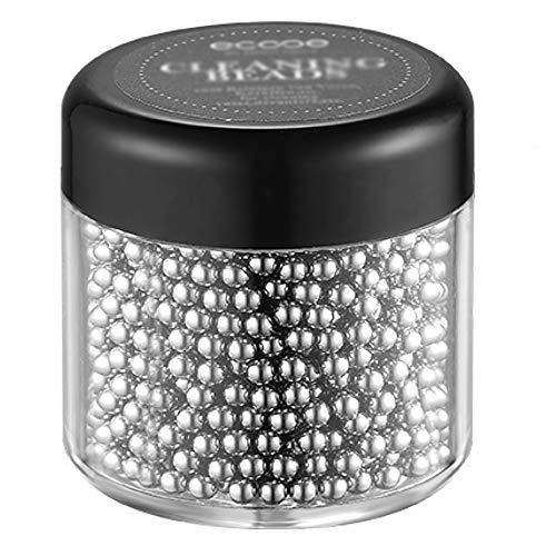 ecooe Perle di Pulizia Sfere in Acciaio Inossidabile 1500, per decantatori, vasi, caraffe, Bottiglie Senza Graffi, Senza ruggine