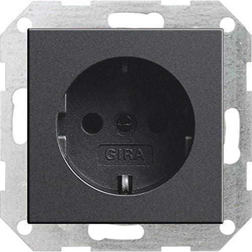 Gira 018828 Schuko Steckdose System 55, anthrazit