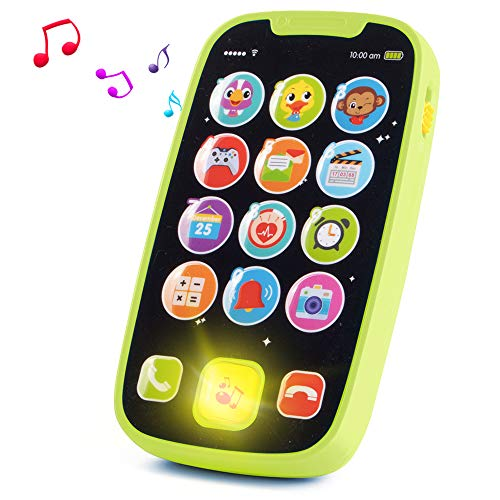HISTOYE Baby Toys Phone for 1 + Year Old , Sing and Count Toy Cell Phone for Toddlers, Role Play Baby Phone for Early Learning Educational Gifts