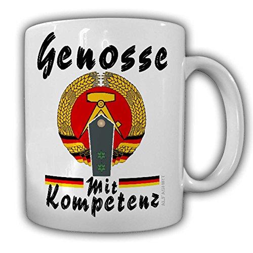 Tasse DDR Volkspolizei Hauptwachmeister Genosse mit Kompetenz Schulterstücke Police Polizei #24171