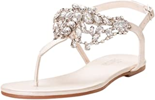 Crystal-Embellished T-Strap Thong Sandals Style Waverly