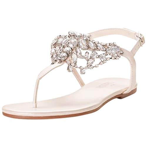 5aeeff5368a1 Crystal-Embellished T-Strap Thong Sandals Style Waverly