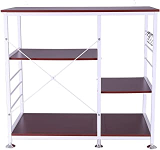 Clearance! 3-Tier Multifunctional Kitchen Rack Microwave Stand Oven Floor Shelf Storage Cupboard,Baker's Rack,Spice Rack Organizer Workstation (Ship from USA)