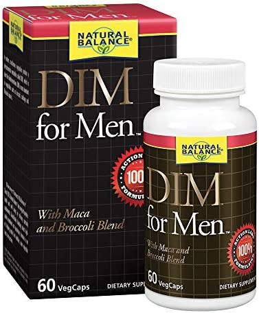 Natural Balance DIM for Men Hormone Balance Supplement for Energy Vitality Mood Support With product image