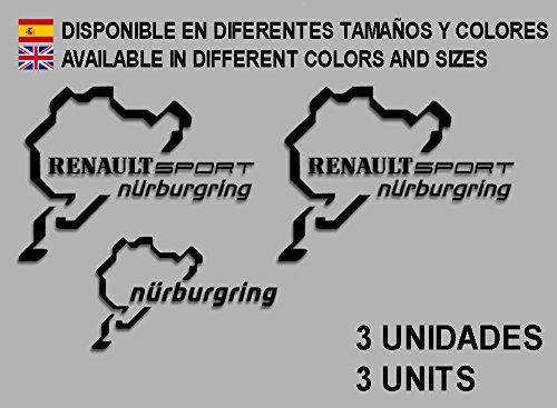 Ecoshirt UX-DDUV-JPU8 Aufkleber Stickers Renault Sport Nürburgring F25 Aufkleber Decals Autocollants Adesivi Rallye schwarz