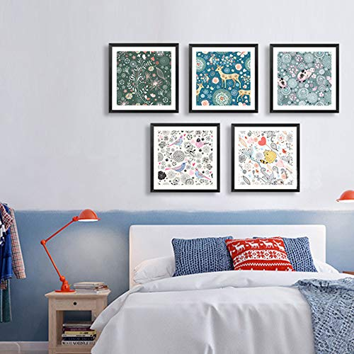 SDFSD Süße Karikatur Süße Tiere Blumenmuster Leinwand Malerei Wandkunst Leinwanddrucke Küchenplakat Bilder für Wohnzimmer Dekoration 60 * 60cm