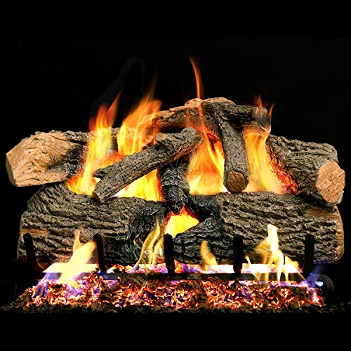 Why Should You Buy Peterson Real Fyre 24-inch Charred Evergreen Oak With Vented Natural Gas G52 Burn...