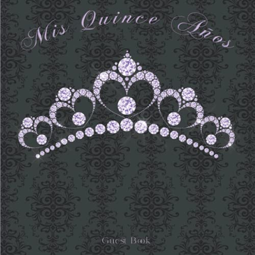 Mis Quince Años Guest Book: Quinceañera Lilac Guestbook with Gift Recorder, Sign in, Wishes, Memory, Photo Pages, Perfect Keepsake for 15th Birthday