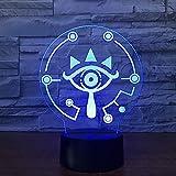 3D Illusion Lampe Zelda Legend 3D Tischlampe Link Wild Link Nachtlicht Atmung 7 Color Ilusion Visuelle Lampe