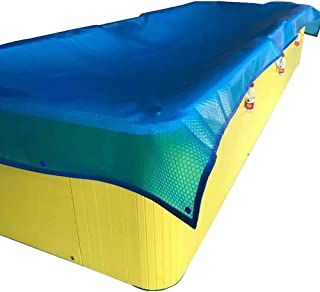LNDDP Tarpaulin Blue Rectangle Solar Cover | Manta calefactora para Piscinas enterradas y elevadas, perforación de Bordes (tamaño: 3.5x2.7m (11.5x8.8ft))