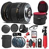 Sigma 17-50mm f/2.8 EX DC OS HSM Lens for Nikon F (583306) Bundle + Backpack + 64GB Card + Lens Case + Card Reader + 3 Piece Filter Kit + Cleaning Set + Flex Tripod + Memory Wallet + More