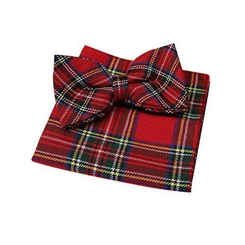 Rouge Royal Stewart Tartan nœud papillon & MOUCHOIR