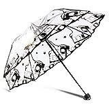 PPCERY Paraguas Transparente Lluvia Soleado Paraguas Sol Paraguas Espesado 30% (Color : Years of Thief)