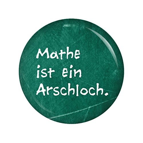Kiwikatze® Sprüche - Mathe ist ein Arschloch - 37mm Button Pin Ansteckbutton als Geschenk oder Mitbringsel