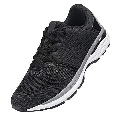 Ezywear Herren Sneaker Laufschuhe Sport Gym Schuhe, 83081schwarz - Größe: 42 1/3 EU
