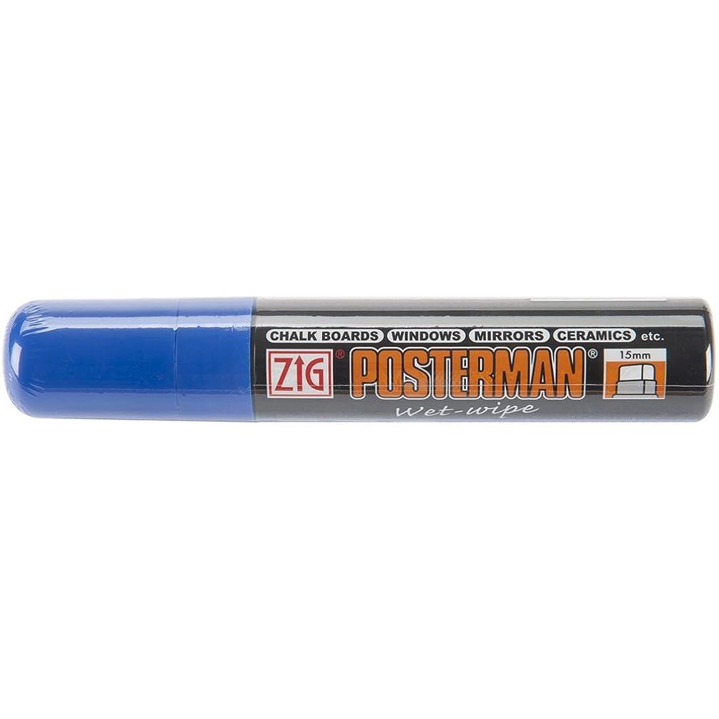 Zig 15mm Posterman Wet Wipe Marker, Blue