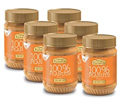 6-Pack of Crazy Richard's 100% Natural Crunchy Peanut Butter 16oz Jars Non-GMO / Gluten-free / Vegan / Certified Kosher 8 grams of protein per serving Our peanut butter is made with the highest-quality peanuts, grown right here in the United States T...