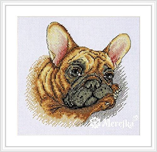 Merejka Counted Cross Stitch kit French Bulldog 15x15cm