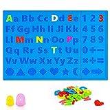 3D Stifte Matte, 3D-Druckstift Matte Silikon mit Niedliche Alphabet, für ABC zu lernen Anfänger, Kinder und 3D-Stiftkünstler,faltbares Design 3D-Stifte matte mit 2 Fingerschutz (16,2 x 10,9 Zoll)