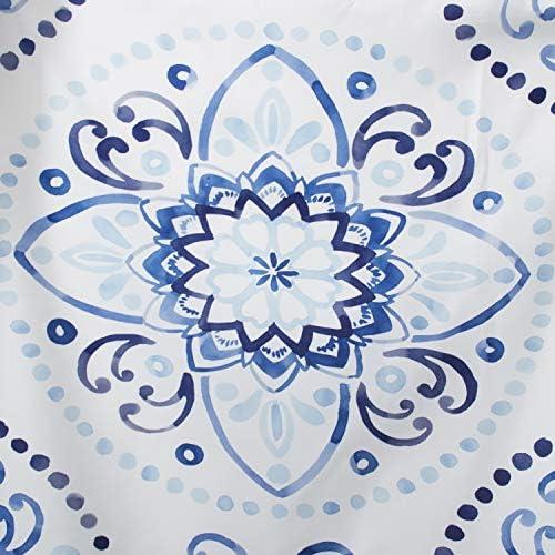 Cobalt blue shower curtain _image4