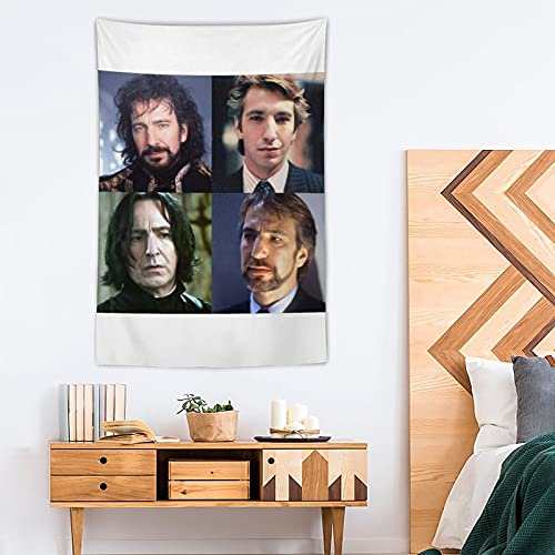 DYTH Tapiz Alan Rickman Pop Art - Tapiz de poliéster para decoración del hogar - 100 x 150 cm