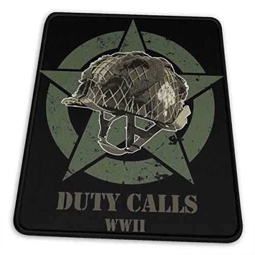 Duty Calls Ww2 Helmet Hemming The Mouse Pad Esports Office Study Computer