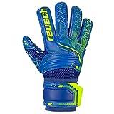 Reusch Attrakt S1 Roll Finger Junior - Guantes de Portero para Hombre, Color Azul Oscuro, Amarillo y Azul Oscuro, 4