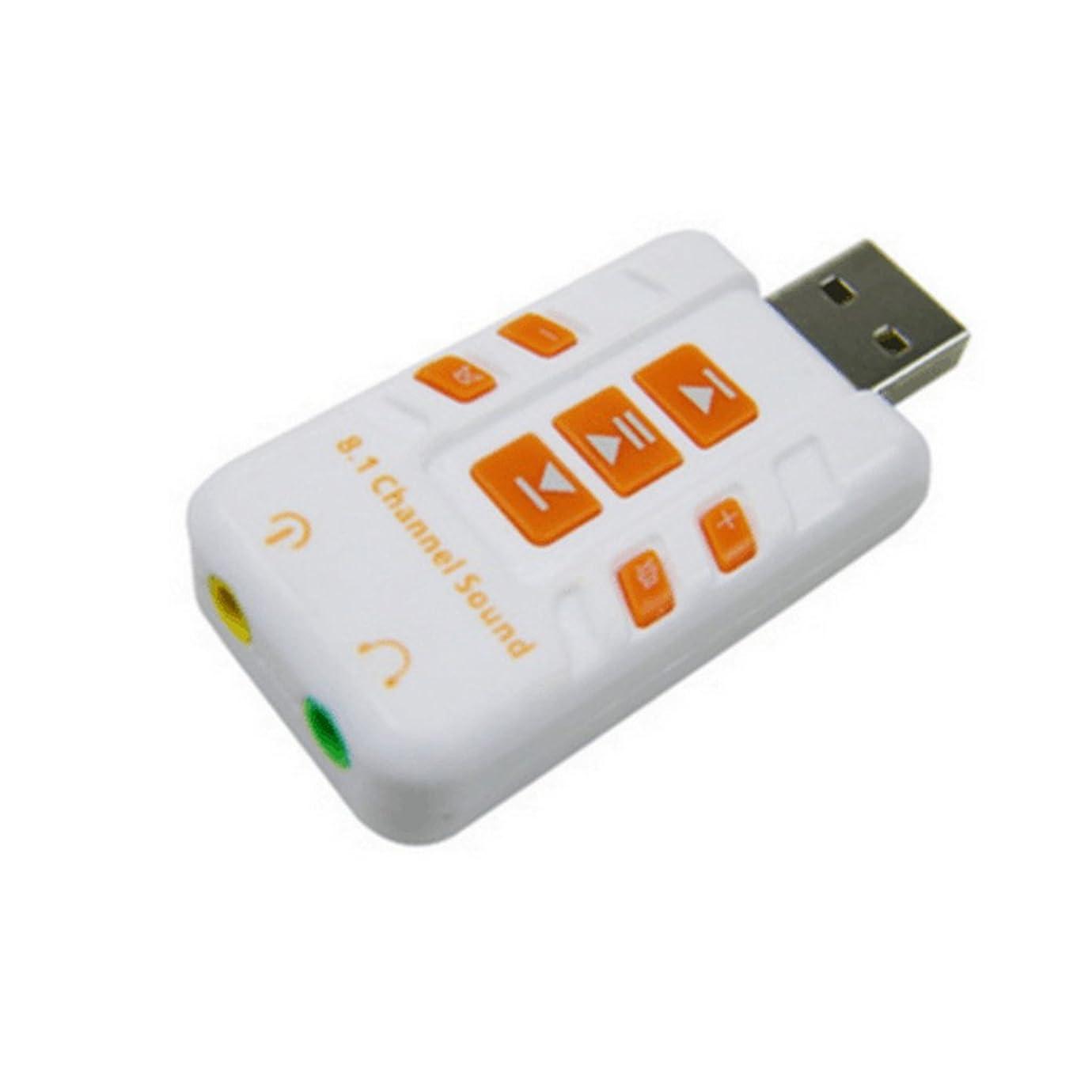 獣おそらく推論【ノーブランド品】コンピュータPC バーチャル 8.1 CHサウンドカード用 USB DACヘッドフォンアンプ ホワイト