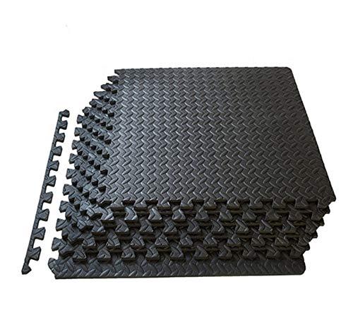 6 Piezas Esterilla Puzzle Suelos de Gimnasio y Fitness DIY 60x60cm Set de Protección de Goma Espuma Alfombrilla Expandible para Deporte Yoga Juegos de Niños