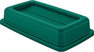 AmazonBasics Double Flip Lid for 23 Gallon Commercial Slim Trash Can, Green, 1-Pack - TCNLID01GDA