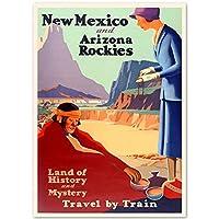 ポスターとプリントニューメキシコとアリゾナロッキーズトラベルアートピクチャーキャンバスポスターとプリントHDプリント油絵壁画リビングルーム家の装飾絵画