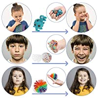 Anpro 24pcs Fidget Toys, Giocattoli Sensoriali per Persone con ADHD Autismo, Palle Antistress per Slleviare l'ansia, Sollievo dallo Stress e Regalo Anti-ansia per Adulti, Riempitivi per Borse da Festa #3